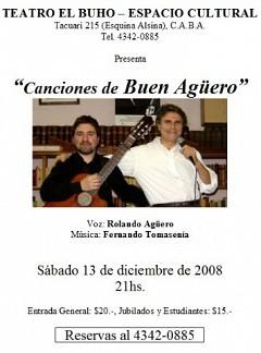 """""""Canciones de Buen Agüero"""""""