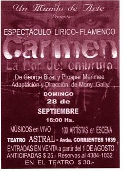 Espectáculo Lírico FlamencoCarmen