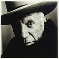 Irving Penn (b. 1917) Picasso (B), Cannes, 1957 platinum-palladium print, printed March 1985 signed, titled, dated, numbered '28/47' in ink, Penn/Condé Nast copyright credit reproduction limitation and edition stamps (on the reverse of the flush-mount) 18½ x 18½in. (47 x 47cm.)