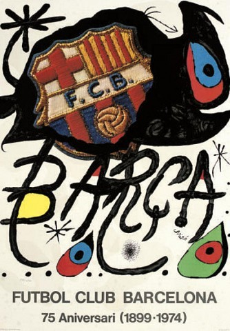 Joan Miro (1893-1983)A collection of two exhibition posters comprising Futbol Club Barcelona 1974 (Picazo 82) and Sala Gaspar-Barcelona 1970, lithographs in colours, on wove papers(Poster)L., S. 1000 x 700 mm. (2)