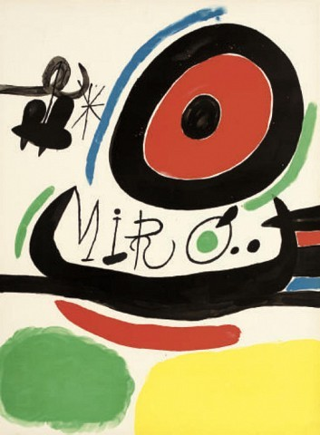 Joan Miro (1893-1983)A collection of 3 exhibition posters comprising Presentation of three books on Miró in Japan (P. 40), hors texte; Sala Gaspar-Galeria Metras-Belarte Exhibition, 1964 (P. 19); and Joan Miro exhibition, Sala Gaspar, Galeria Metras and Belarte, Barcelona 1964, lithographs in colours, on wove papers(Posters)S. 1000 x 700 mm. (and smaller) (3)
