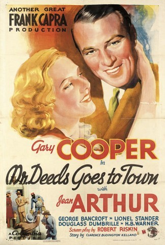 Mr Deeds Goes To Town 1936, Columbia, U.S. one-sheet -- 41x27in. (104x69cm.), backed on brown paper, (B)