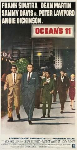 Ocean's 11 1960, Warner Bros., U.S. three-sheet -- 81x41in. (206x102cm.), linen-backed, (A-)