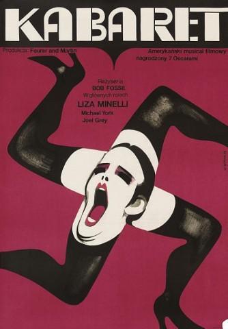 Cabaret Kabaret 1972, Allied Artists, Polish -- 33x23in. (84x57cm.), (B+) unfolded Art by Wiktor Gorka