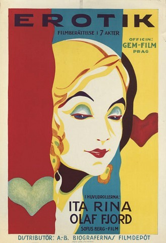 Erotikon Erotik 1929, Gem-Film, Swedish -- 39x27in. (99x69cm.), (A-) unfolded