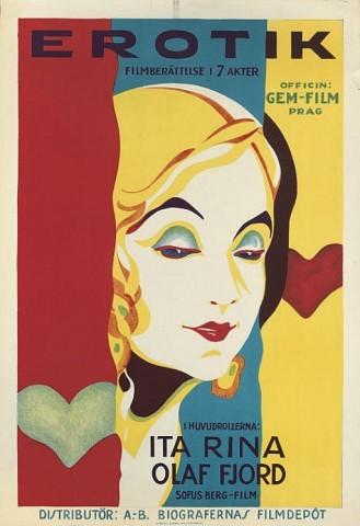 Erotikon Erotik1929, Gem-Film, Swedish -- 39x27in. (99x69cm.), (A-) unfolded