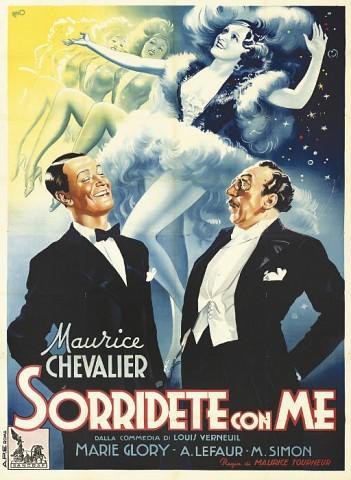Avec Le Sourire Sorridete Con Me1939, Italian four-foglio -- 79x55in. (201x140cm.), (A-)