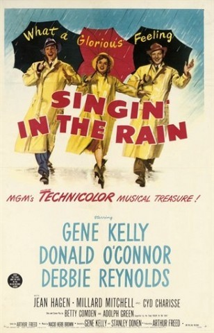 Singin' In The Rain 1952, M.G.M., U.S. one-sheet -- 41x27in. (104x69cm.), (A-) framed