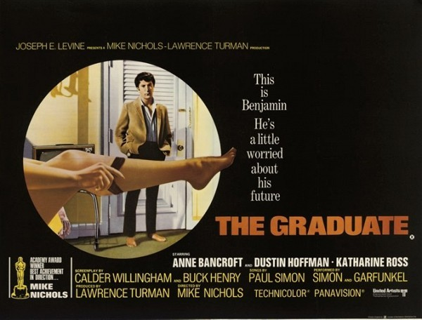 The Graduate 1968, Embassy Pictures, British quad -- 30x40in. (76x102cm.), linen-backed, (A-)