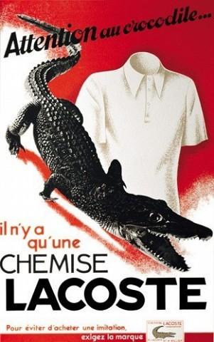 [D. R.] « Il n'y a qu'une chemise Lacoste » : un pressentiment avant le boom des contrefaçons à travers le monde ? Aujourd'hui, le polo star reste le vêtement le plus copié de la planète.