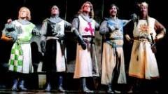 El rey Arturo y sus caballeros, en el montaje de Spamalot.