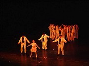 """""""Rock & Tap"""", Presentación de la GEBA-Compañía de Tap de Alberto Agüero en el Teatro Astral (17dic2005). [Foto Augusto César Lapeyre]"""
