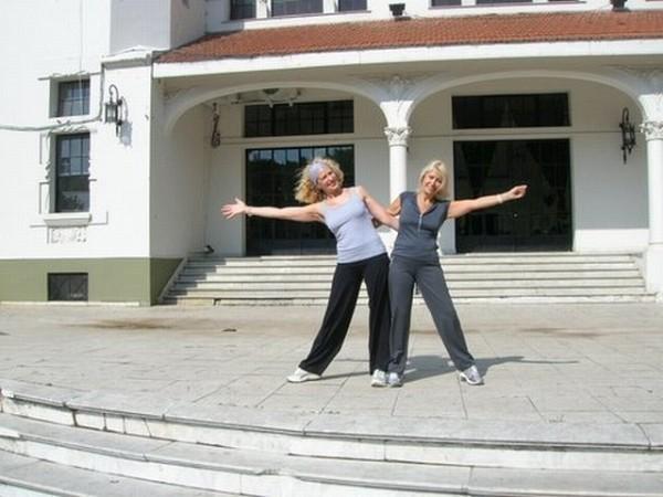 Olga Machalek y Mónica CataldoGeba San Martín, 12oct2008, Domingo con Lluvia