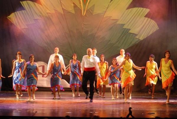 """""""Sinfonía en Tap"""", Idea, Coreografía y Dirección General: Alberto Agüero<br>Se presentó en el Teatro del Globo, miercoles 10 diciembre 2008, dos funciones."""