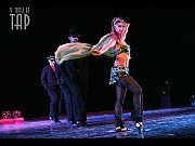 Y todo es tap. Teatro Astral 22 nov 2006(De izquierda a derecha Paula Sempé, Maximiliano Pellizza y Julia Montiliengo en Caravana[Foto Cristina Rivera para Alberto Agüero Show]