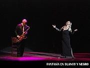 Fantasía en Blanco y Negro, Tus Sueños en Broadway; en el Teatro ND Ateneo, Buenos Aires, 03 diciembre 2009.Enrique Varela, Raquel Liss [Foto Antonio E. Fresco]