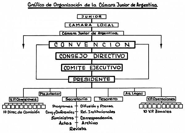 Gráfico de Organización de la Cámara Junior de Argentina