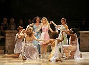 XanaduKira (Kerry Butler) muses about the wonder of feeling alive with her magical sisters (Clockwise: Jackie Hoffman, André Ward, Kenita Miller, Anika Larsen, Curtis Halbrook, Mary Testa) in I'm Alive.Tuesday 10th July Official Opening Night at Helen Hayes Theatre, 240 West 44th Street, New York