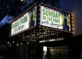 Sunday in the Park with George officially opened on Thursday, February 21, 2008 at Studio 54