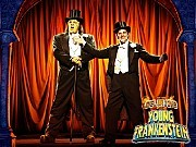 """The Monster (SHULER HENLEY) and Dr. Frankenstein (ROGER BART) perform """"Puttin' on the Ritz""""Young Frankenstein, Previews begin Oct. 11; opens Nov. 8, Hilton Theatre, 42nd St. at 7th Ave."""